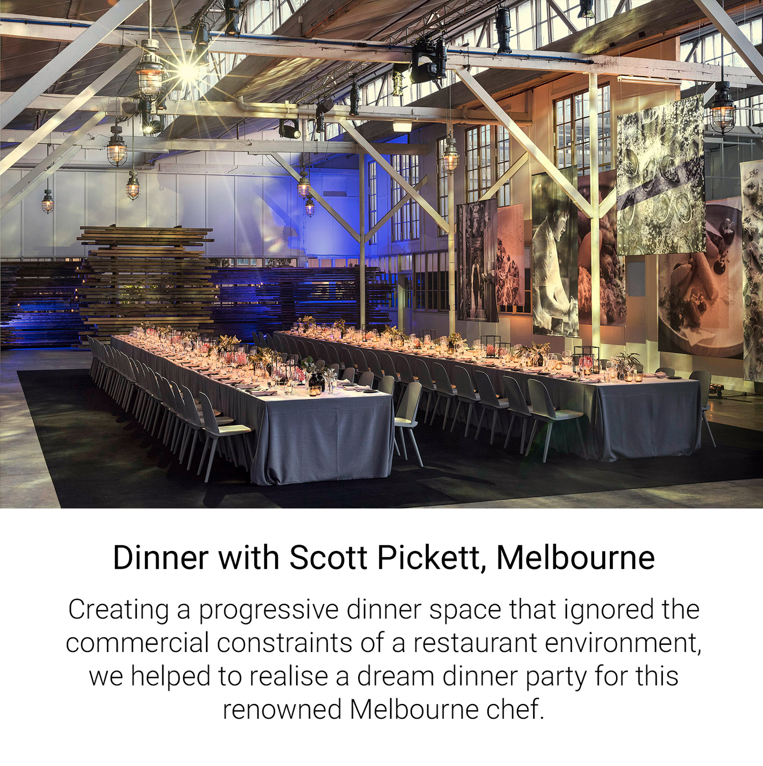 Dinner with Scott Pickett, Melbourne