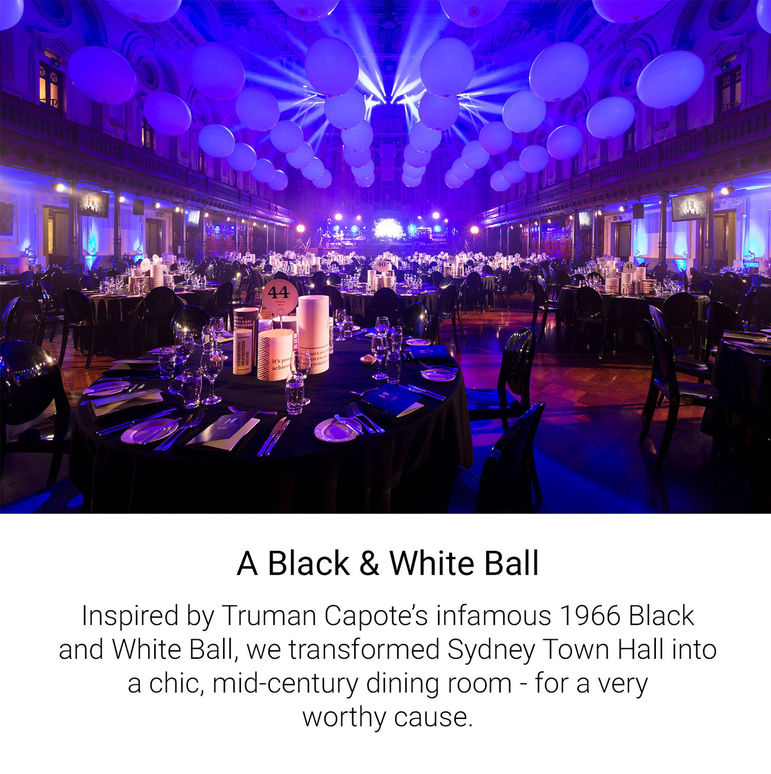 A Black & White Ball