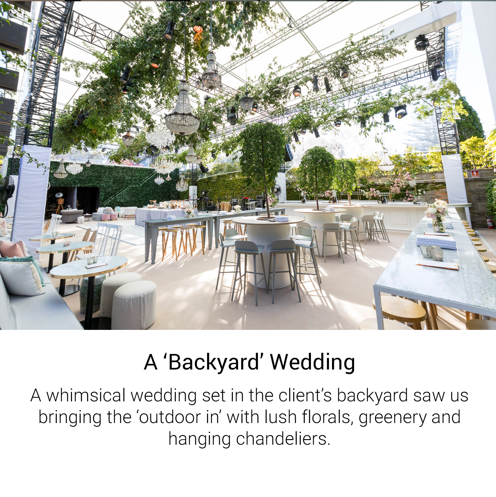 A 'Backyard' Wedding
