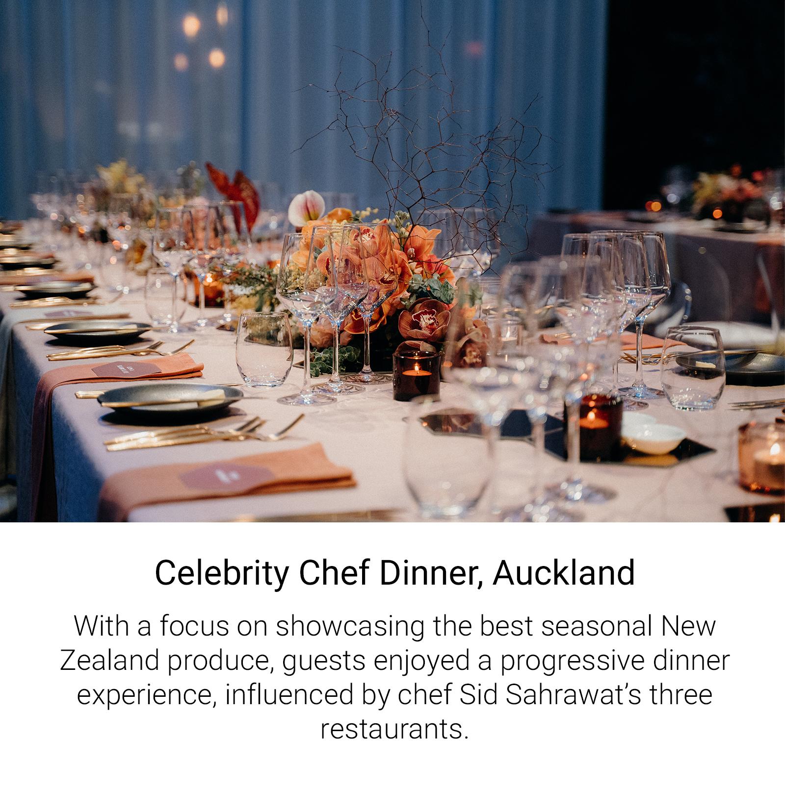Celebrity Chef Dinner Auckland